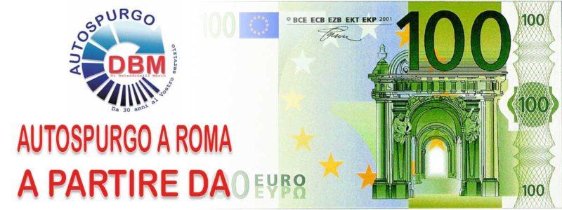 Autospurgo Roma a partire da 100 euro!