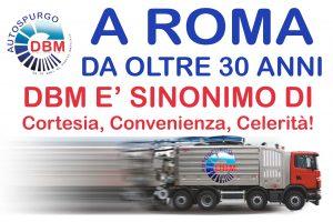 Autospurgo Roma DBM da oltre trenta anni al servizio nella Capitale