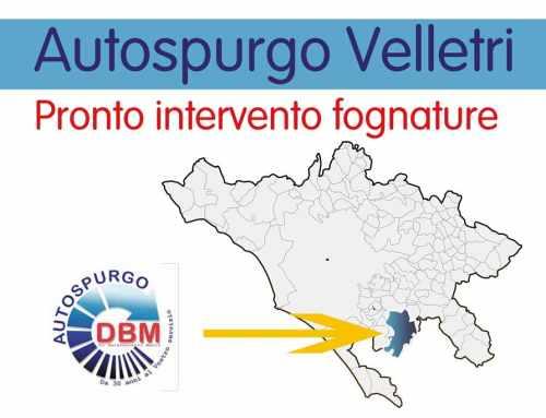 Autospurgo Velletri pronto intervento